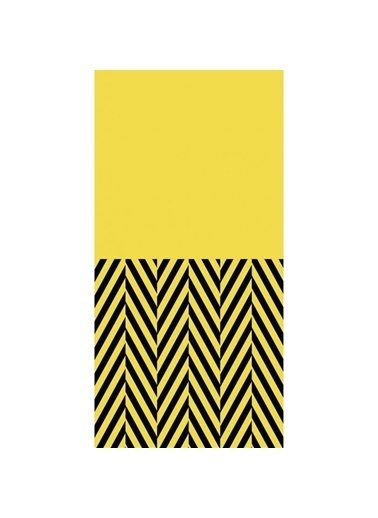 Artikel Sarı-Siyah Geometrik Çizgiler Dekoratif Çift Taraflı Yastık Kırlent Kılıfı 45x45 cm Renkli